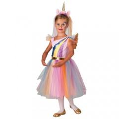 Μικρή Μονόκερος με φτερά στολή για κορίτσια