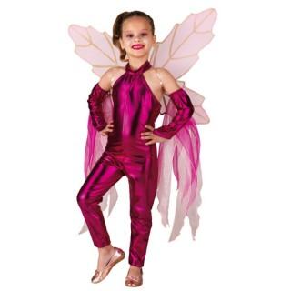 Wings φούξια με φτερά στολή νεράιδας για κορίτσια
