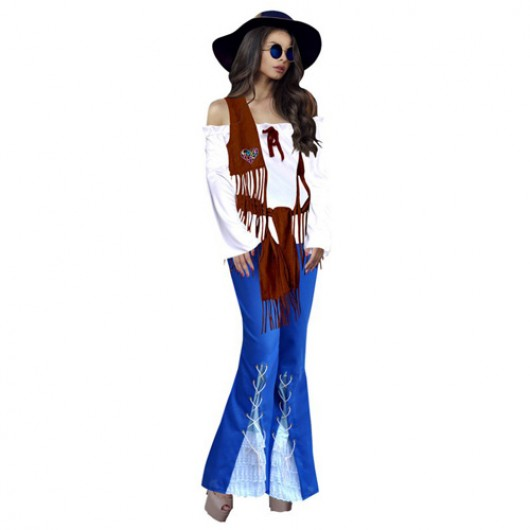 Woodstock Bohemian Hippie γυναικεία στολή ενηλίκων