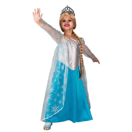 Έλσα Βασίλισσα των πάγων στολή για κορίτσια Frozen Με περούκα