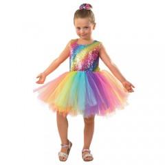 Ουράνιο τόξο tutu στολή για κορίτσια