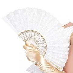 Βεντάλια Δαντέλα λευκή Granada 25cm