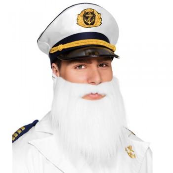 Μούσι Και Μουστάκι Λευκό Captain