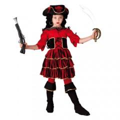 Red Corsair στολή πειρατίνας για κορίτσια