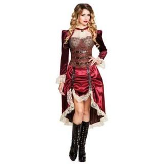 Lady Steampunk γυναικεία στολή για ενήλικες