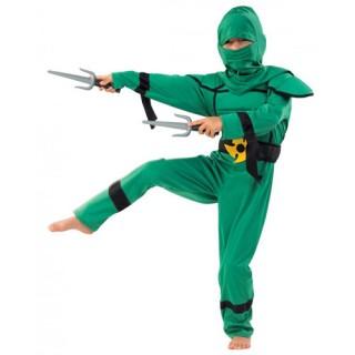Ninja Μαχητής Πράσινος στολή για αγόρια
