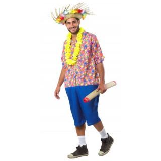 Τουρίστας στη Χαβάη αποκριάτικη στολή ενηλίκων