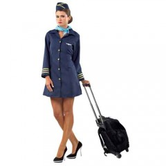 Αεροσυνοδός μπλε γυναικεία στολή
