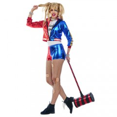 Bad Jester στολή κόμικ Harley quinn γυναικεία