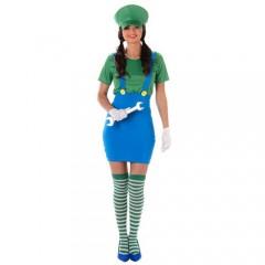 Super Πράσινος Υδραυλικός γυναικεία στολή για ενήλικες