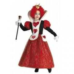 Βασίλισσα της  Καρδιάς στολή κοριτσιών με μακρύ φόρεμα