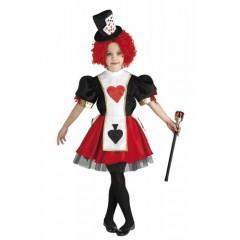 Βασίλισσα της Καρδιάς στολή κοριτσιών με κοντό φόρεμα