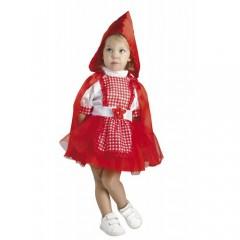 Κοκκινοσκουφίτσα αποκριάτικη στολή μπεμπέ με καρό ποδιά