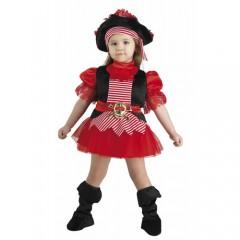Μικρή πειρατίνα με καπέλο στολή μπεμπέ για κορίτσια