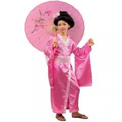 Γκέισα ροζ αποκριάτικη στολή για κορίτσια