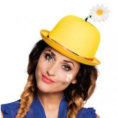 Καπέλο Κλόουν κίτρινο με λουλούδι