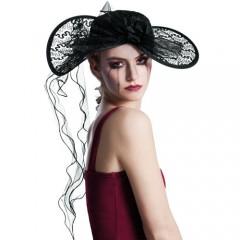 Καπέλο  Εύθυμης Χήρας Με δαντέλα Deluxe