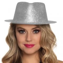 Καπέλο καβουράκι Sparkle ασημένιο