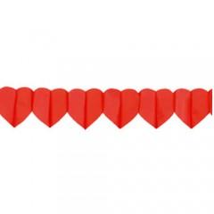 Γιρλάντα αποκριάτικη καρδιές 4m
