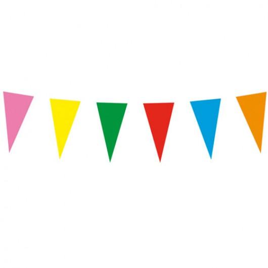 Γιρλάντα αποκριάτικη με πολύχρωμα σημαιάκια 10m