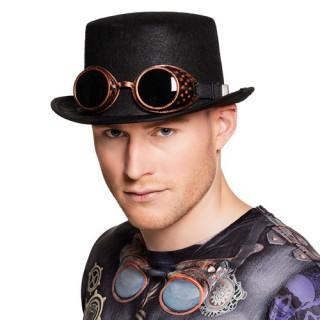 Καπέλο steampunk ημίψηλο με γυαλιά