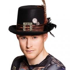 Καπέλο steampunk ημίψηλο με κορδέλα