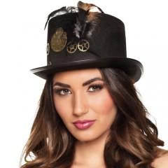 Καπέλο steampunk ημίψηλο με γρανάζια