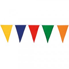 Γιρλάντα αποκριάτικη πολύχρωμα polyester σημαιάκια 10m