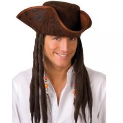 Καπέλο Πειρατή Dirty Joe με μαλλιά