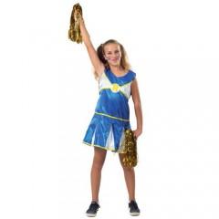 Cheerleader στολή μπλε μαζορέτας για κορίτσια