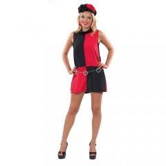 Disco 70s στολή σε μαύρο κόκκινο χρώμα