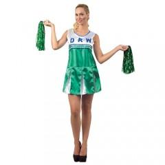Cheerleader πράσινη στολή μαζορέτας ενηλίκων