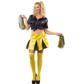 Μαζορέτα ομάδας Κίτρινη στολή ενηλίκων
