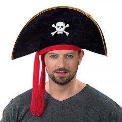 Καπέλο Πειρατή Βελούδινο Με νεκροκεφαλή