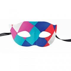 Μάσκα ματιών Αρλεκίνου πολύχρωμη