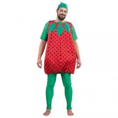 Φράουλα ολόσωμη στολή μασκότ για ενήλικες