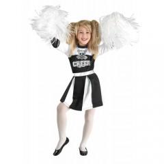 Fear Cheer στολή μαυρόασπρη μαζορέτας για κορίτσια