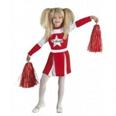 Red Cheer στολή κόκκινης μαζορέτας για κορίτσια