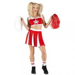 Red Cheer στολή κόκκινης Μαζορέτας ενηλίκων