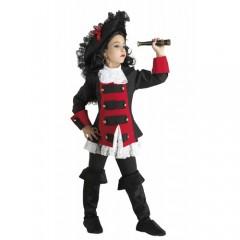 Μαύρο μαργαριτάρι στολή πειρατίνας για κορίτσια