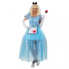 Αλίκη με μακρύ φόρεμα στολή ενηλίκων