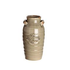 Βάζο Κεραμεικό καφέ με σφραγίδα Hand Made