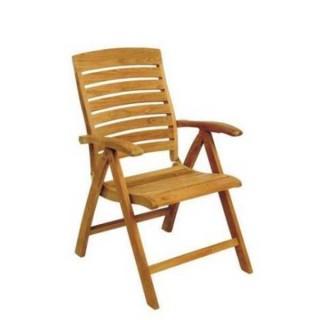 Teak πολυθρόνα με ανάκληση πλάτης τεσσάρων θέσεων
