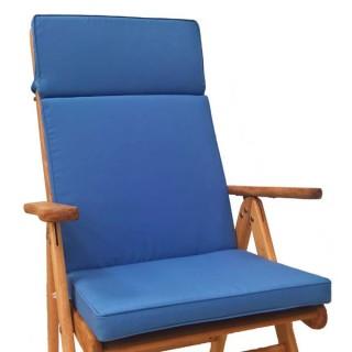 Μαξιλάρι Με Ψηλή Πλάτη μονόχρωμο μπλε