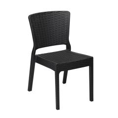 Antares Καρέκλα σε δύο χρώματα πολυπροπυλενίου με φινίρισμα wicker
