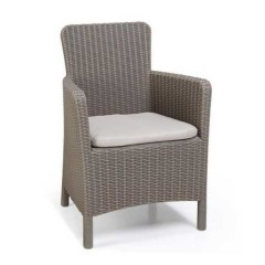 Trenton πολυθρόνα πολυπροπυλένιο σχέδιο wicker σε 2 χρώματα