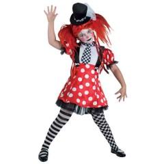 Funky Clown χαριτωμένη στολή κλόουν για κορίτσια