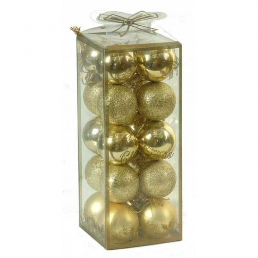 Σετ 20 χρυσές 4cm χριστουγεννιάτικες μπαλίτσες