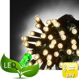 100 Λαμπάκια Led Πρόγραμμα 31V Εξωτερικού χώρου Πράσινο καλώδιο Θερμό φως
