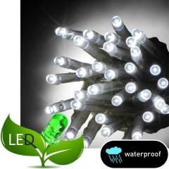 100 Λαμπάκια LED Σιλικόνης με Επέκταση Στεγανά με Λευκό ψυχρό φως